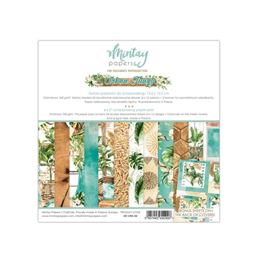 "Mintay Papers - Design papers - Urban Jungle - 6x6"" (blok m/24 + 2 bonus ark)"