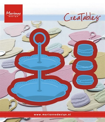Marianne Design - Die - Tiered tray and macarons