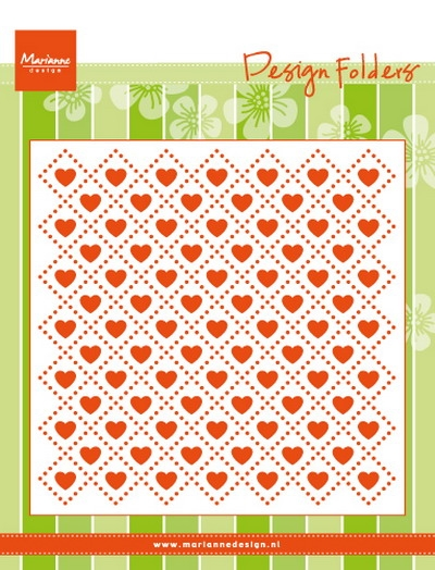 Marianne Design - Embossing folder - Hjerter