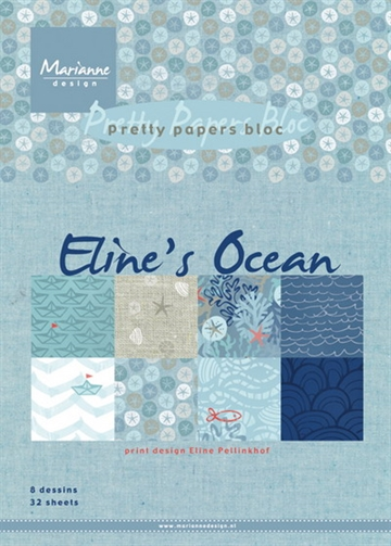 Marianne Design - Pretty Papers Bloc A5 - Eline's Ocean - PB7052