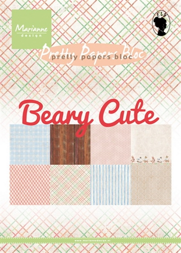 Marianne Design - Pretty Papers Bloc A5 - Beary Cute - PK9145