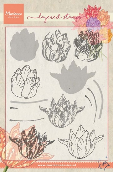 Marianne Design - Clear stamp - Tulips