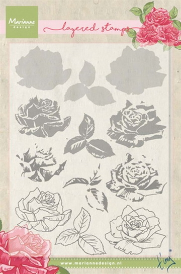 Marianne Design - Clear stamp - Roses
