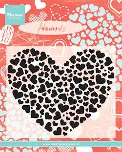 Marianne Design - Clear stamp - Hearts