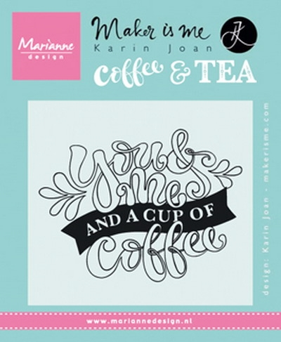 Marianne Design - Clear stamp - You Me Coffee