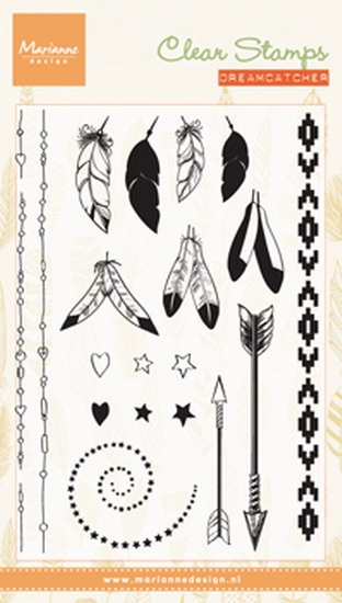 Marianne Design - Clear stamp - Feathers