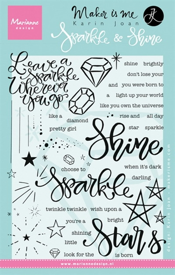 Marianne Design - Clear stamp - Sparkle & Shine