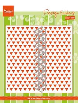 Marianne Design - Embossing folder + die - Triangles (DF3428)