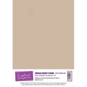 Crafter's Companion - Neenah Desert Storm Kraft Colouring Card (15 ark)