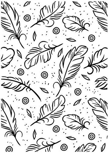 Nellie Snellen - Embossing folder -  Feathers - HSF015