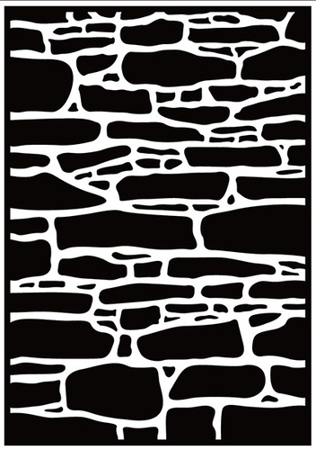 Nellie Snellen embossing folder -  Stone Wall - HSF019