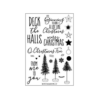 Concord & 9th clear stamp set - O christmas tree