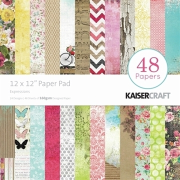 "KaiserCraft paper pad 12x12"" - Expressions"