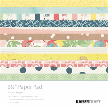 "KaiserCraft paper pad 6½x6½"" - Finders keepers"