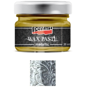 Pentart - Wax Paste - Metallic -  Silver (20ml)