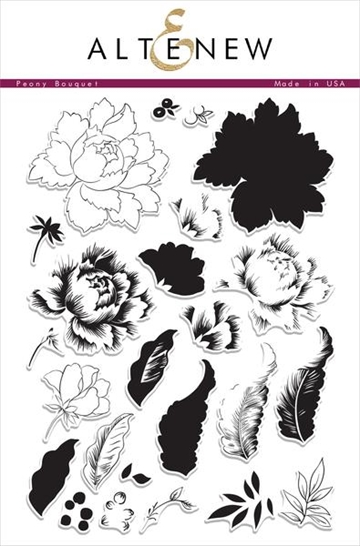 Altenew clear stamp set - Peony Bouquet