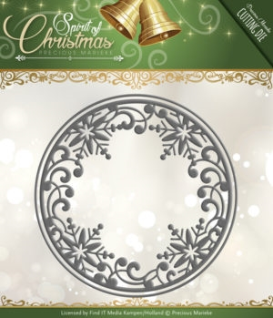Precious Marieke die set - Spirit of Christmas - Snowflake Circle - PM10067