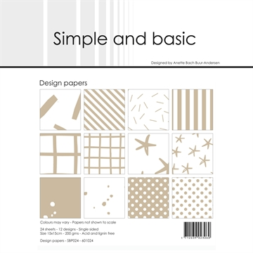 Happymade - Simple and basic - Design papers - 15x15cm - Baileys Brown - SBP024