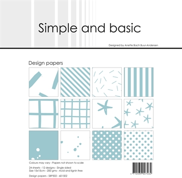 Happymade - Simple and basic - Design papers - 15x15cm - Mint - SBP502