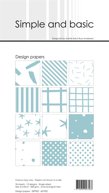 Happymade - Simple and basic - Design papers - 21x10cm - Mint - SBP902