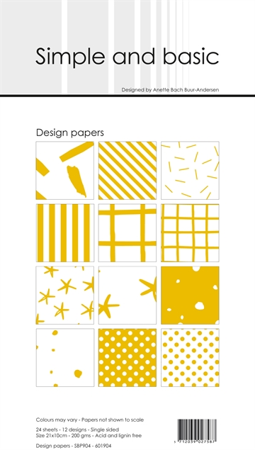 Happymade - Simple and basic - Design papers - 21x10cm - Mustard - SBP904