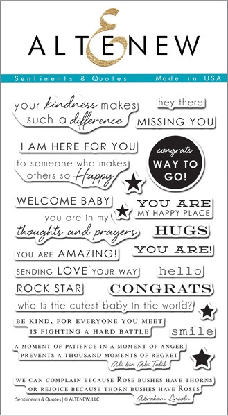 Altenew clear stamp set - Sentiments & Quotes