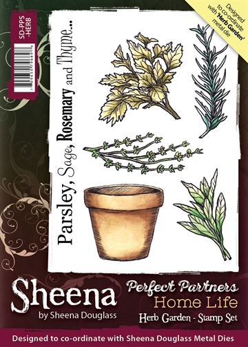 Sheena by Sheena Douglass - Rubber stamp - Herb Garden