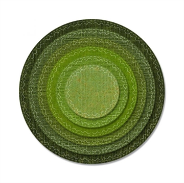 Sizzix Thinlits Die - Stitched Circles (662229)