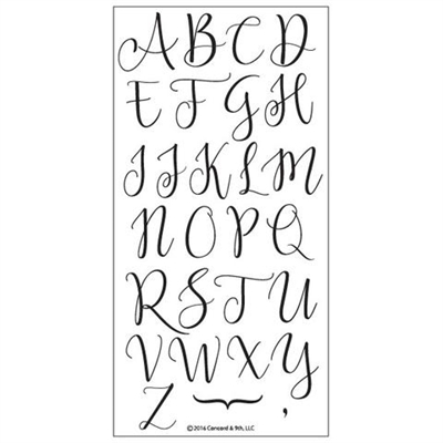 Concord & 9th clear stamp set - Sophisticated script (Uppercase)