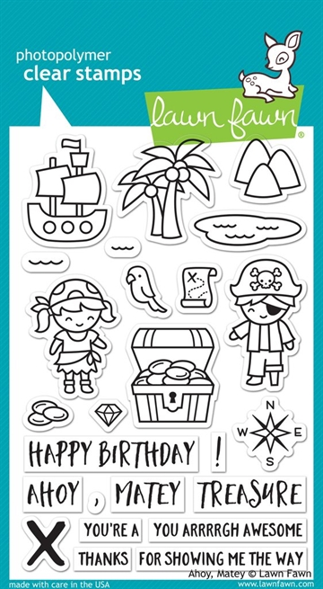 Lawn Fawn clear stamp set - Ahoy matey