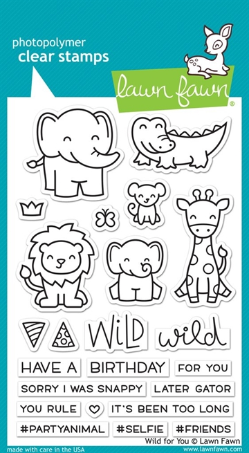 Lawn Fawn clear stamp set - Wild for you