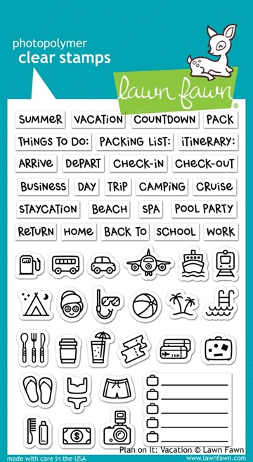 Lawn Fawn clear stamp set - Plan on it: Vacation