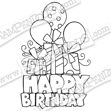 Stampendous - Chunky Birthday