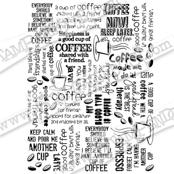 Stampendous - Coffee Background