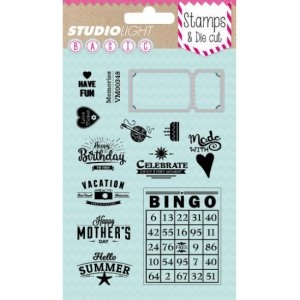 Studio Light - Clear stamp and die - BASICDC05
