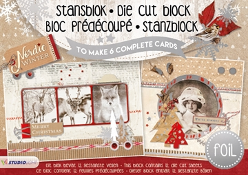 Studio Light Die Cut Block - Nordic Winter - 12 ark (A5) - (SL09)
