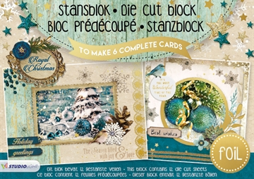 Studio Light Die Cut Block - Royal Christmas - 12 ark (A5) - (SL12)