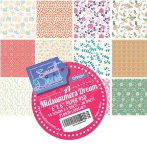 Sweet Dixie Paper Pad - A Midsummers Dream - 15x15cm - SDPP0009