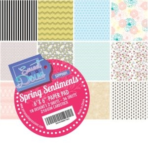 Sweet Dixie Paper Pad - Spring Sentiments - 15x15cm - SDPP0001