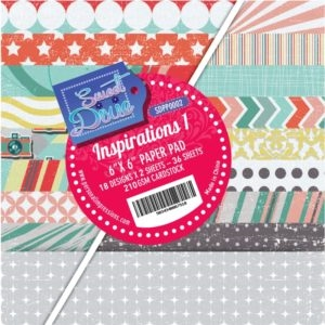 Sweet Dixie Paper Pad - Inspirations 1 - 15x15cm - SDPP0002
