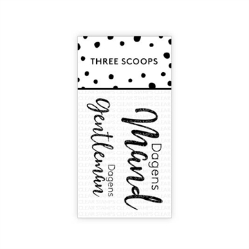 Happymade - Three Scoops - Clear Stamp - Dagens Mand