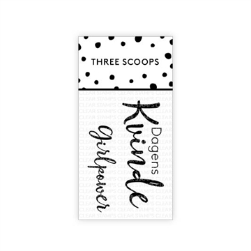 Happymade - Three Scoops - Clear Stamp - Dagens Kvinde