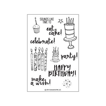 Concord & 9th clear stamp set - Eat cake & celebrate