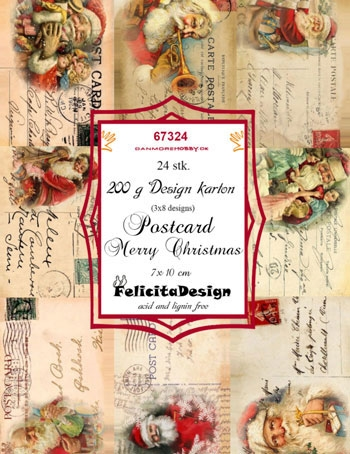 Felicita Design Toppers - Postcard Merry Christmas