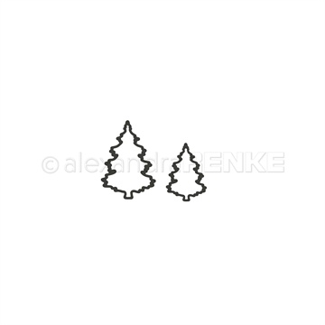 Happymade - Alexandra Renke - Die - Outline Christmas Trees - Small (D-AR-W0102)