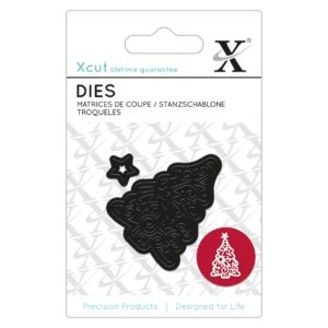 Xcut Mini Die - Filigree Christmas Tree - XCU 504005