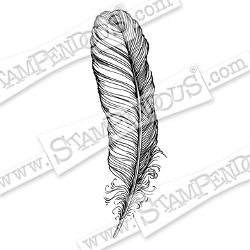 Stampendous - Cling Rubber Stamp - Quill