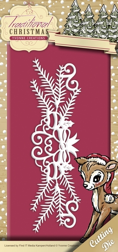 Yvonne Creations die set - Traditional Christmas - Holiday Garland - YCD10055