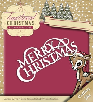 Yvonne Creations die set - Traditional Christmas - Merry Christmas - YCD10057