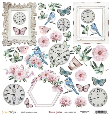 Happymade - ScrapBoys - Klippeark - Dream Garden - DRGA-07